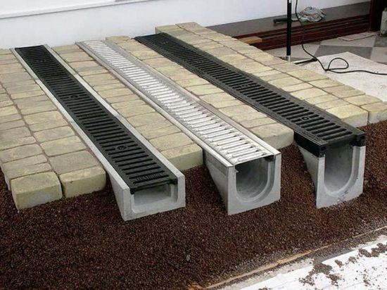 Оригинальные лотки подбираем практичные конструкции для отвода воды
