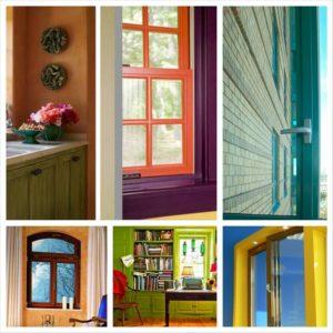 Цветные пластиковые окна – инновационное решение в оформлении жилплощади