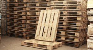Деревянные поддоны для хранения и транспортировки продукции