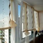 Какие шторы выбрать на окно балкона: фото идеи интерьеров