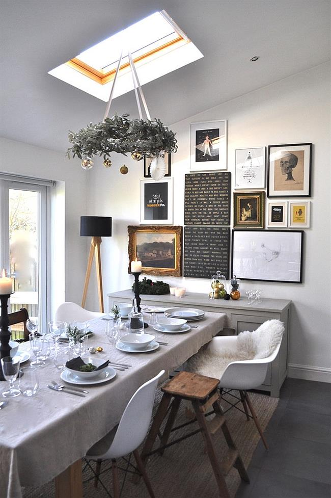 Мансардные окна в столовой: дополнительный источник света и необычный элемент декора