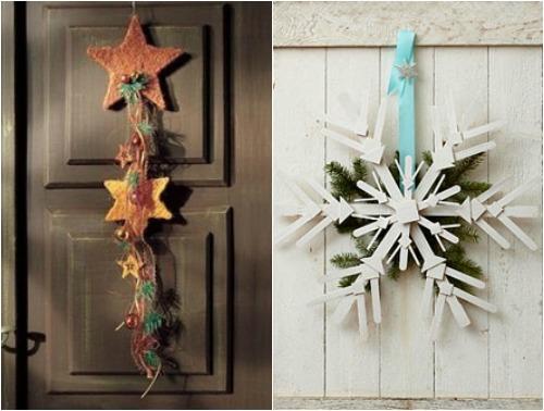 Новый год на пороге: украшаем входную дверь