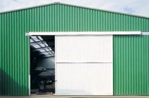 Промышленные откатные ворота для производственных площадок